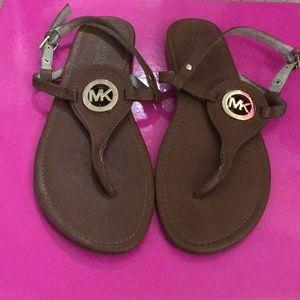 Michael Kors Brown Sandals - Size 8